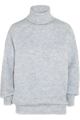 Stella McCartney Ribbed Chunky-knit Wool-blend Sweater - Lyst