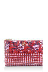 Tory Burch Large Slouchy Cosmetic Case - Lyst
