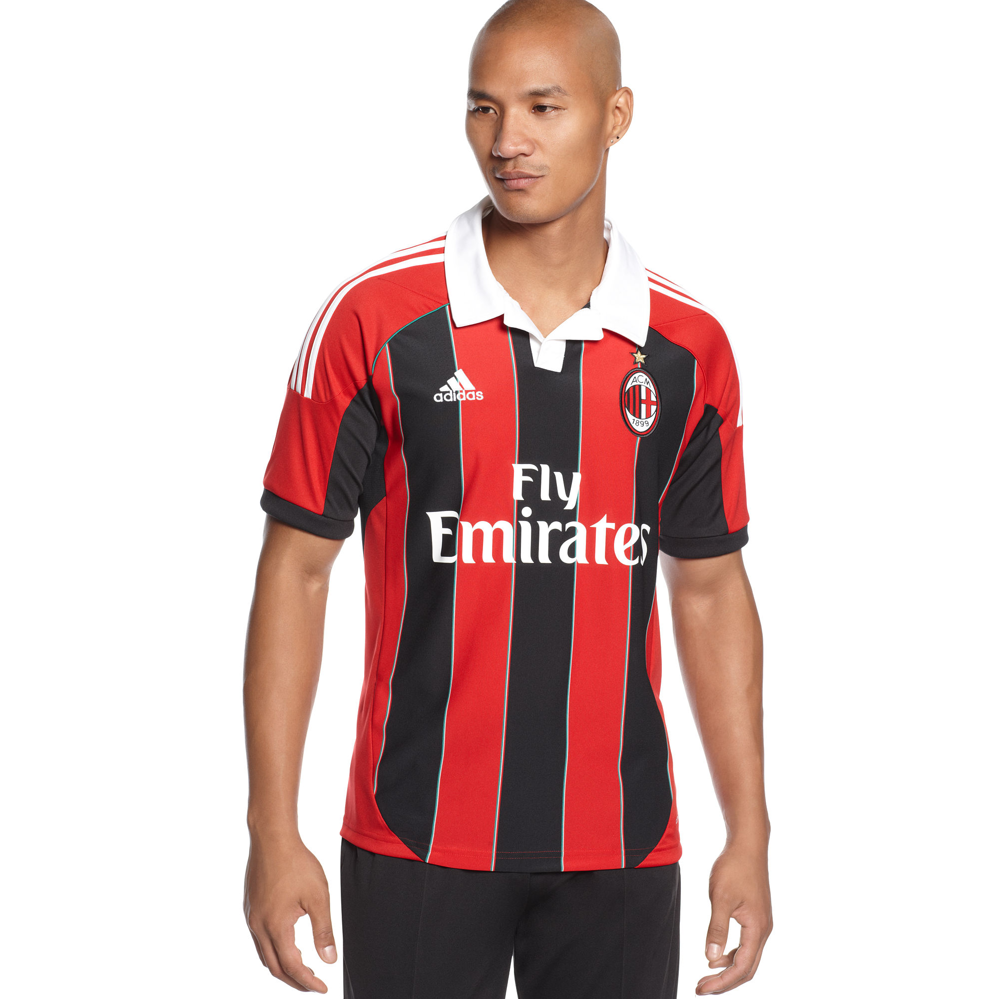 Lyst - Adidas Climacool Ac Milan Home Jersey in Red for Men 30827e5ed