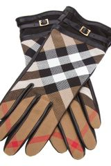 Burberry Check Gloves - Lyst