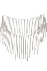 Fallon Fringe Necklace - Lyst