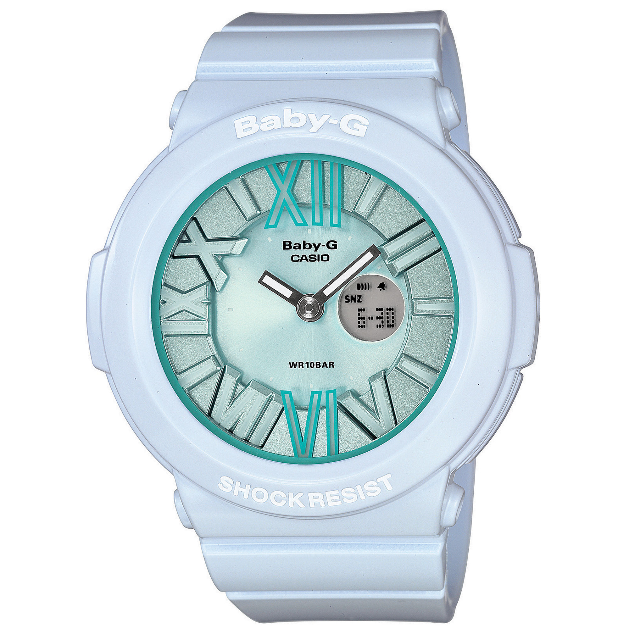 g shock babyg watch womens analogdigital light blue resin strap 43mm bga1612b in blue no color