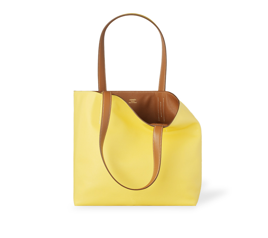 authentic birkin bags for sale - Herm��s Double Sens 45 in Yellow (sulfur/cinnamon) | Lyst