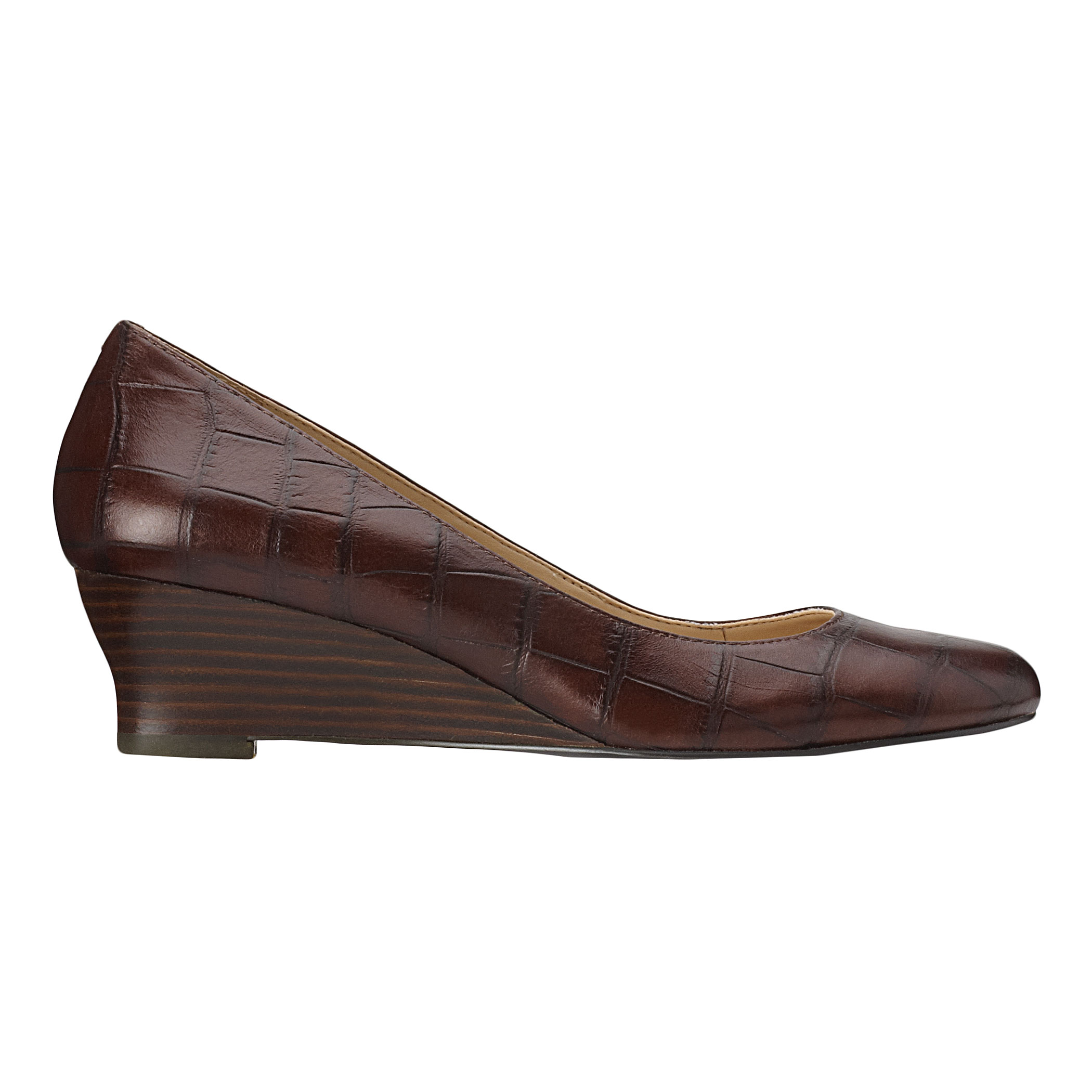 Lyst - Nine west Backtalk Midheel Wedge Pump in Brown