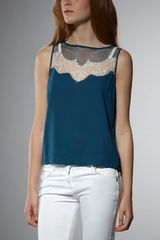 Patrizia Pepe Sleeveless Top Viscose Crepe - Lyst