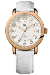 Tommy Hilfiger Womens White Leather Strap 38mm - Lyst