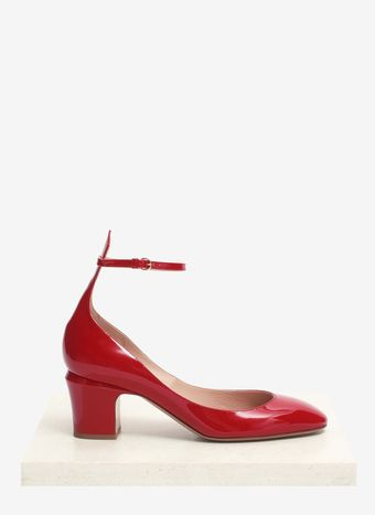 Valentino Strapped Patent Leather Pumps - Lyst