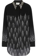 3.1 Phillip Lim Embellished Feather-print Silk Shirt - Lyst