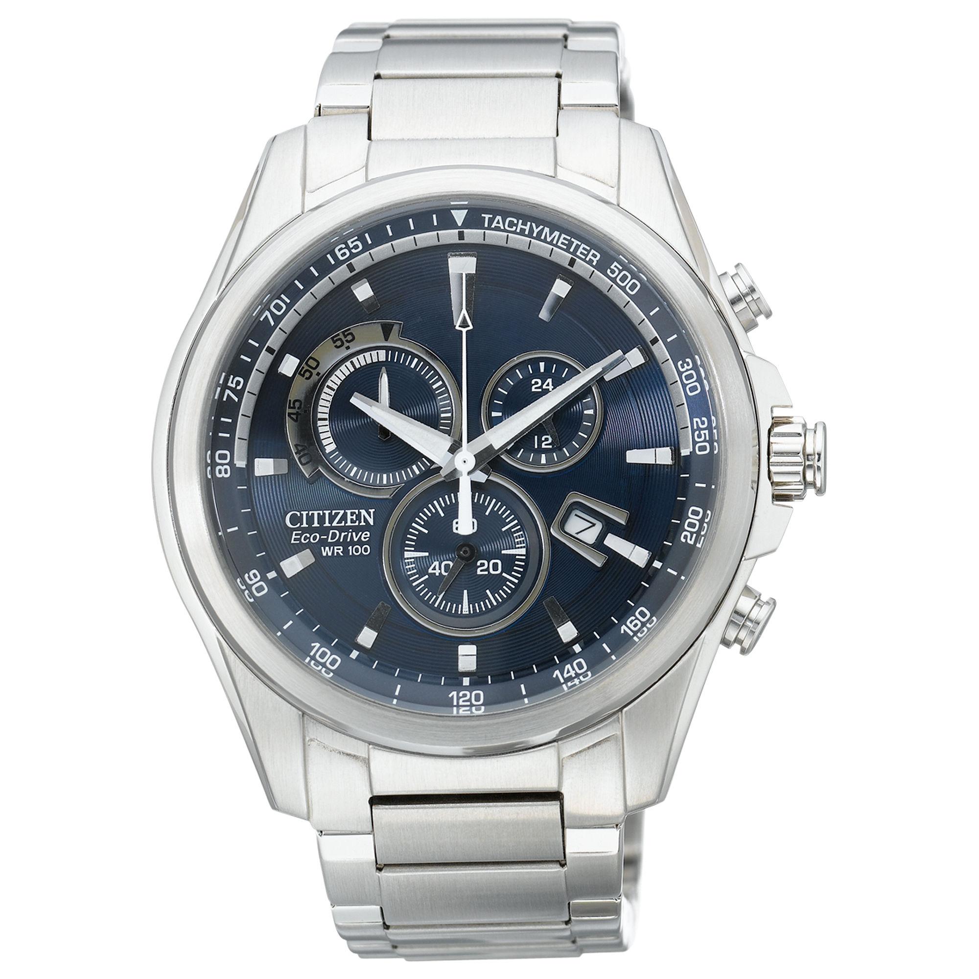 citizen mens chronograph ecodrive stainless steel bracelet 43mm gallery