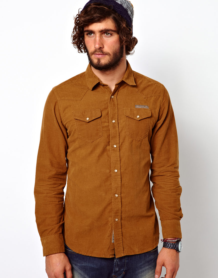 Mens Tan Shirt | Is Shirt