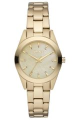 DKNY Womens Gold Tone Ion Plated Stainless Steel Bracelet 28mm - Lyst