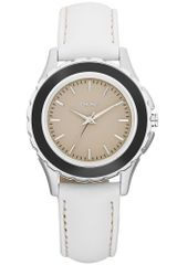 DKNY Womens White Leather Strap 32mm - Lyst