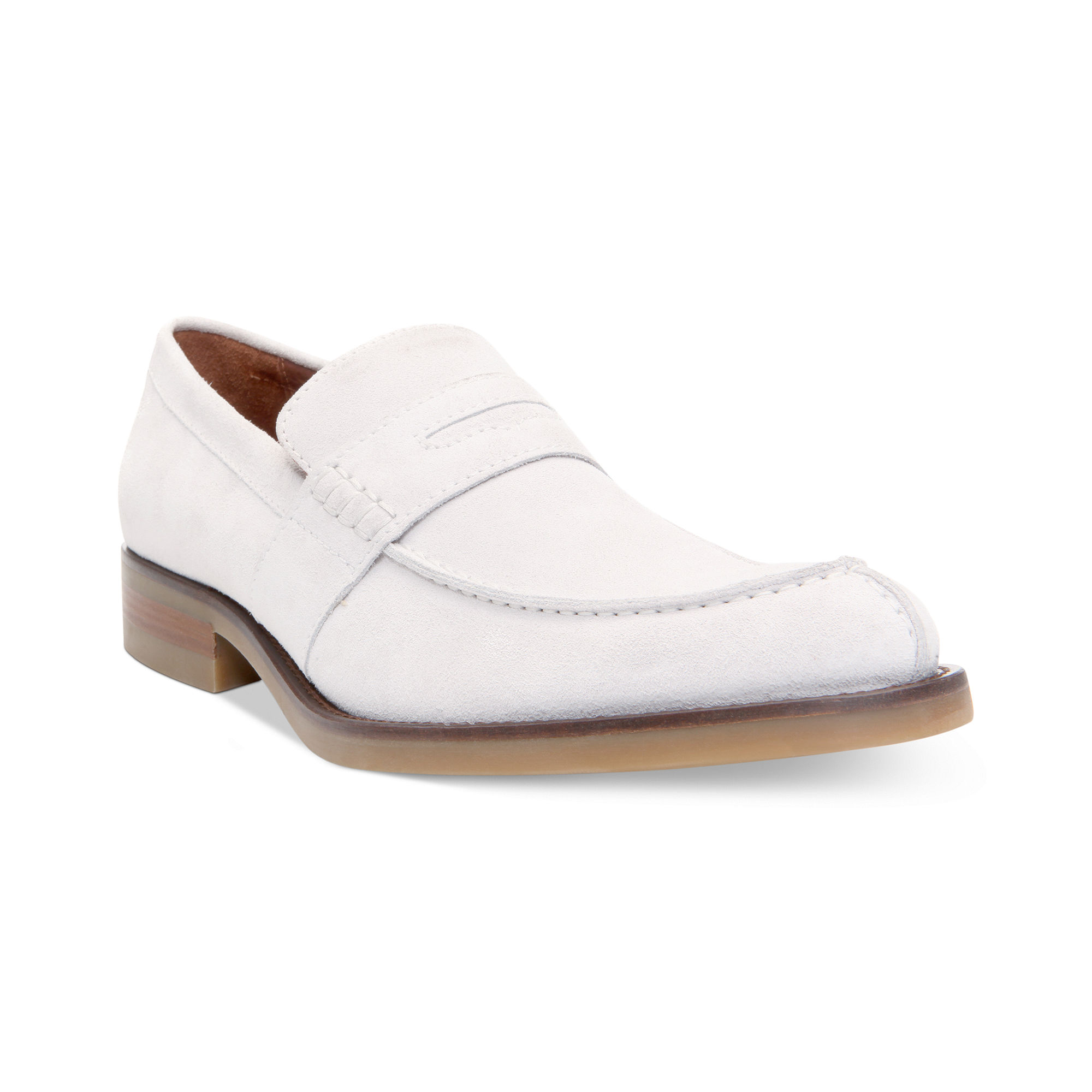 5cbf7d90fea Lyst - Donald J Pliner Evana Suede Penny Loafers in White for Men