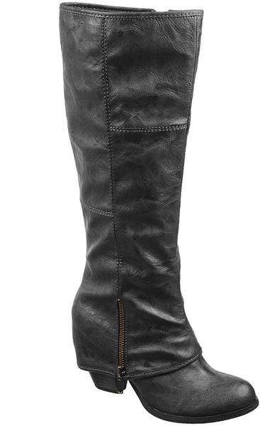 Fergie Fergalicious Shoes Lryder Tall Boots in Gray (Dark ... Fergie Shoes