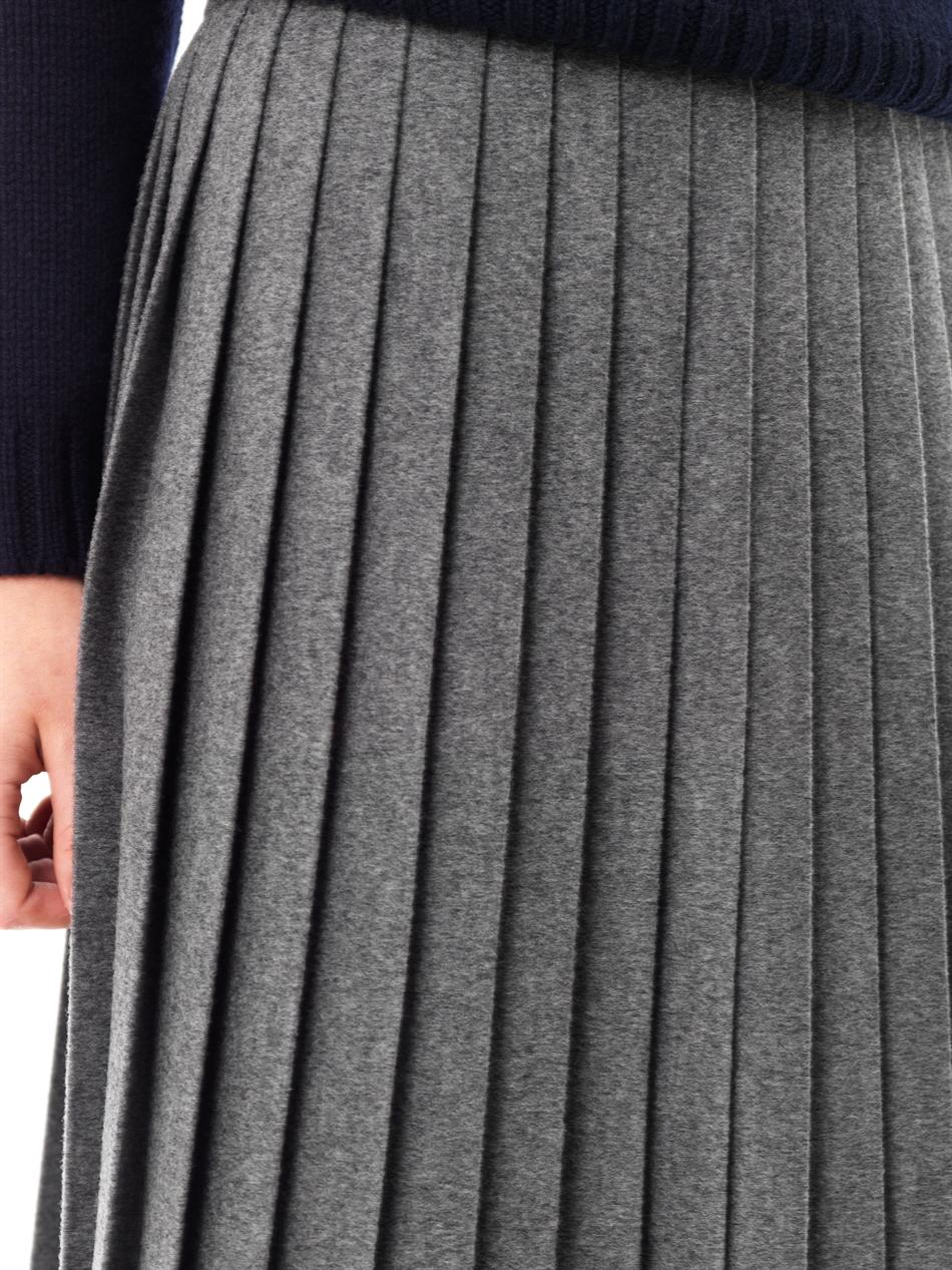 Freda Bella Wool Pleated Skirt In Gray Lyst