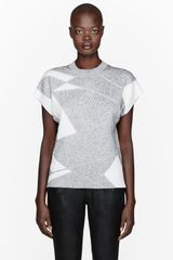 Helmut Lang Mottled Patchwork Geo Pleat T_shirt - Lyst