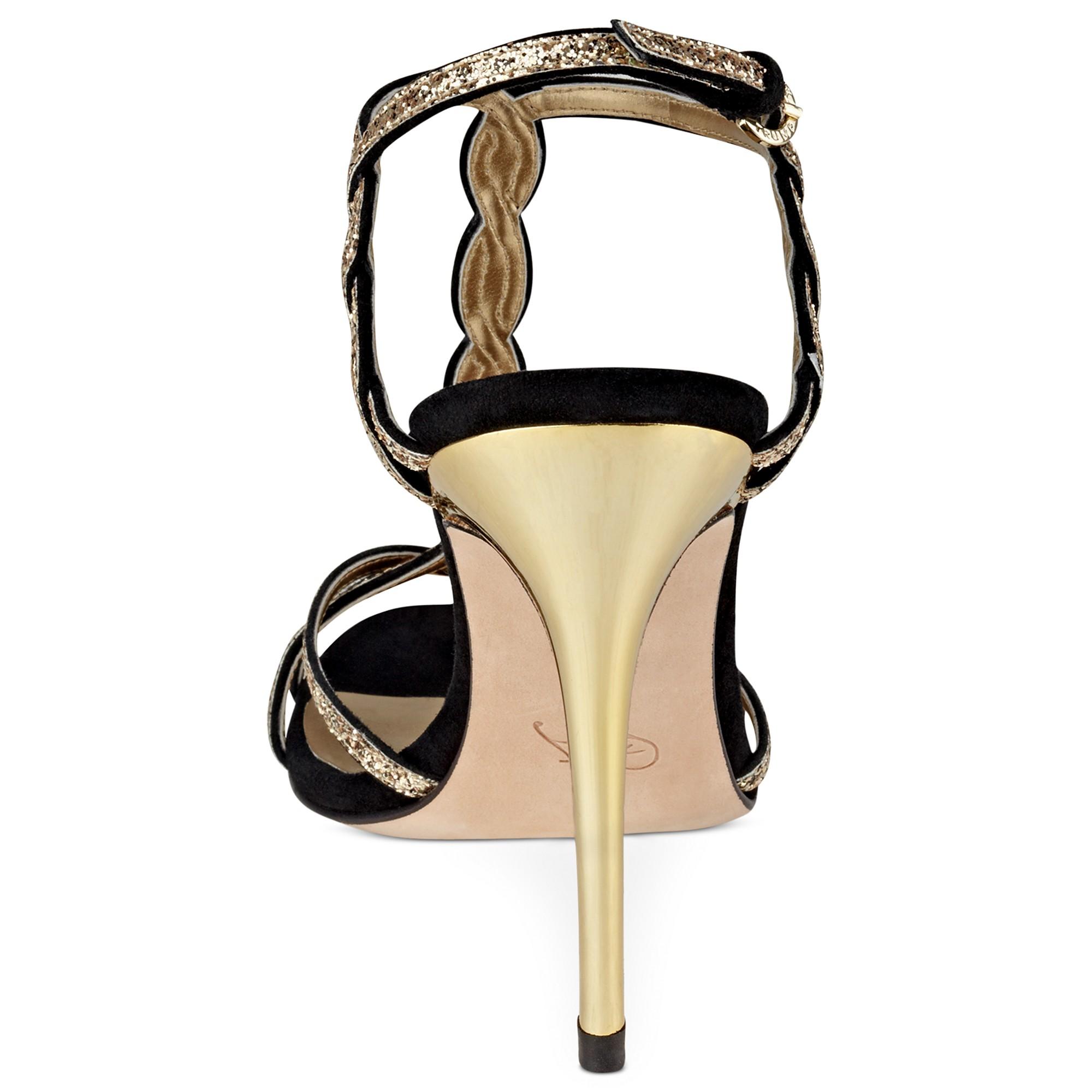 Ivanka Trump Hara High Heel Evening Sandals In Natural