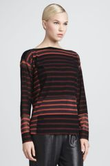 Jean Paul Gaultier Striped Top Redblack - Lyst