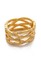 Kara By Kara Ross Braided Crystal Bangle - Lyst