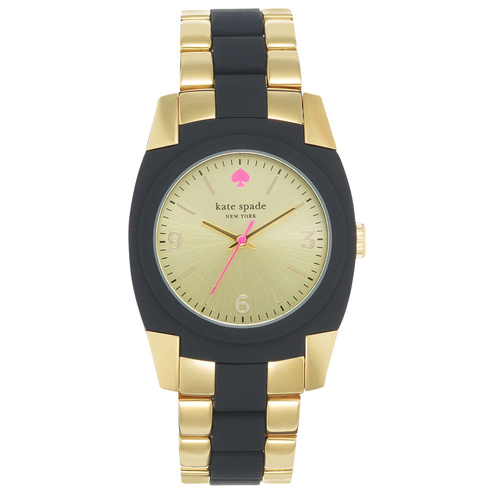 kate spade s skyline black silicone and gold tone