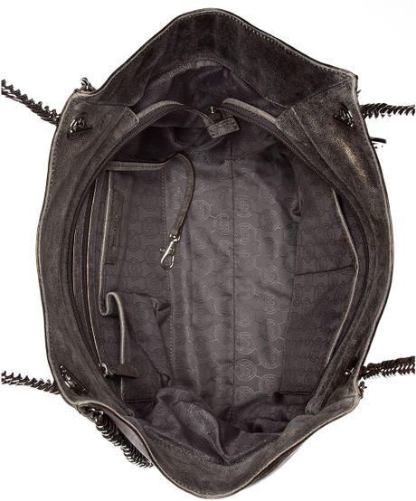 Closeout Michael Kors Chelsea Totes - Bags Michael Kors Chelsea Large Shoulder Tote Black Patent Python