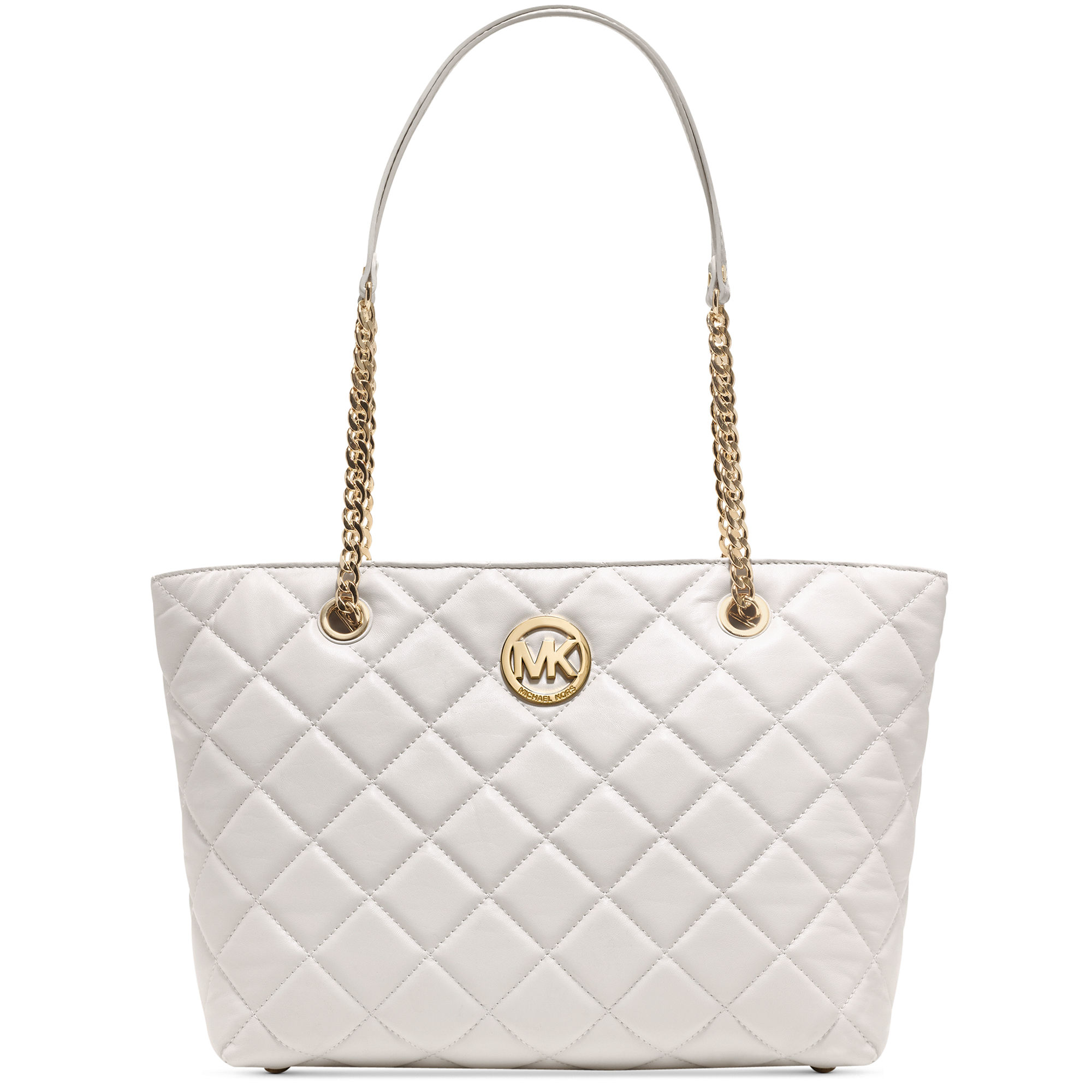 Lyst - Michael kors Fulton Quilted Large East West Tote in White : michael kors fulton quilted tote - Adamdwight.com