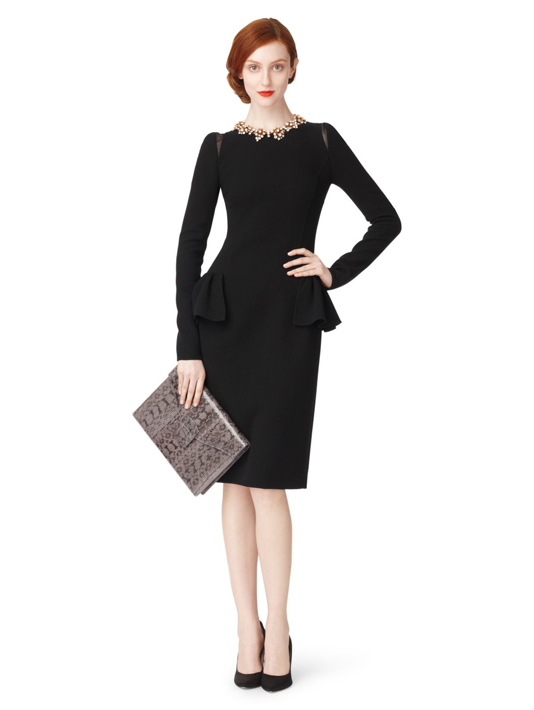 Shop for BLACK M Knee Length Work Pencil Long Sleeve Peplum Dress online at $ and discover fashion at nakedprogrammzce.cf Cheapest and Latest women & men fashion site including categories such as dresses, shoes, bags and jewelry with free shipping all over the world.