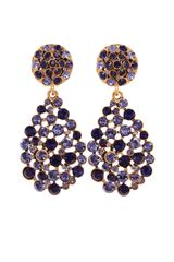 Oscar de la Renta Pave Teardrop Earrings - Lyst