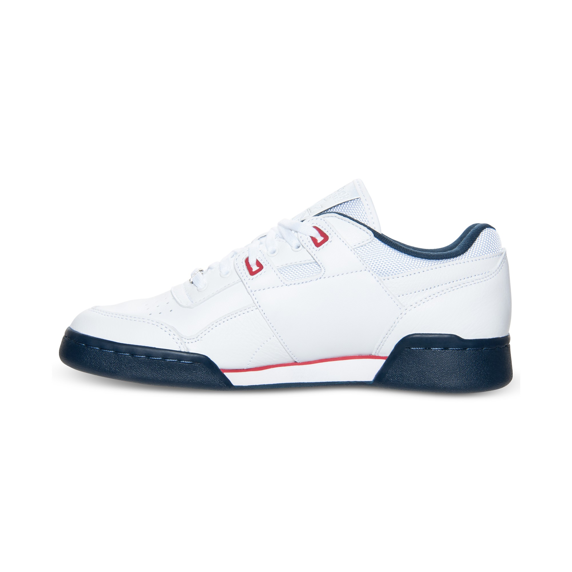 Reebok Workout Plus Casual Sneakers In White For Men | Lyst
