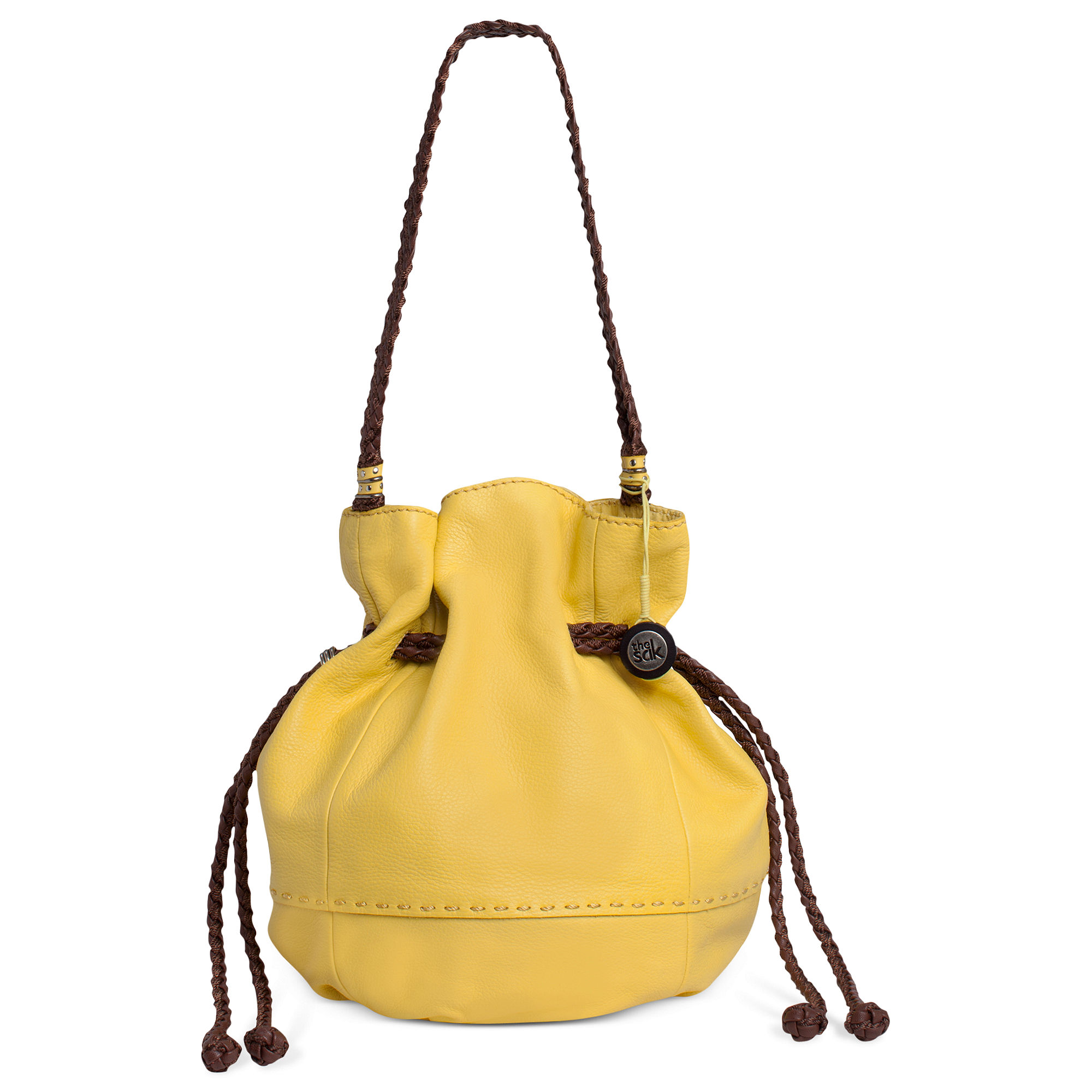 36b43de130 Lyst - The Sak Indio Leather Drawstring Bag in Yellow
