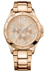 Tommy Hilfiger Womens Chronograph Rose Goldtone Stainless Steel Bracelet 40mm - Lyst