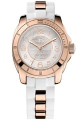 Tommy Hilfiger Womens Sport Rose Gold Tone Stainless Steel and White Silicone Strap 38mm - Lyst