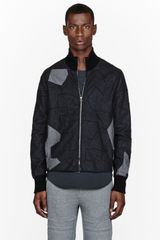 3.1 Phillip Lim Navy Patchwork Zip_up Jacket - Lyst