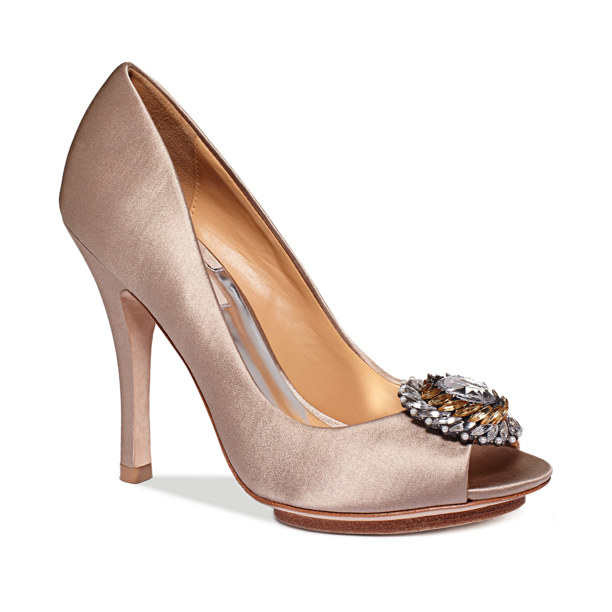 Badgley Mischka Beaming Evening Pumps In Beige (Taupe