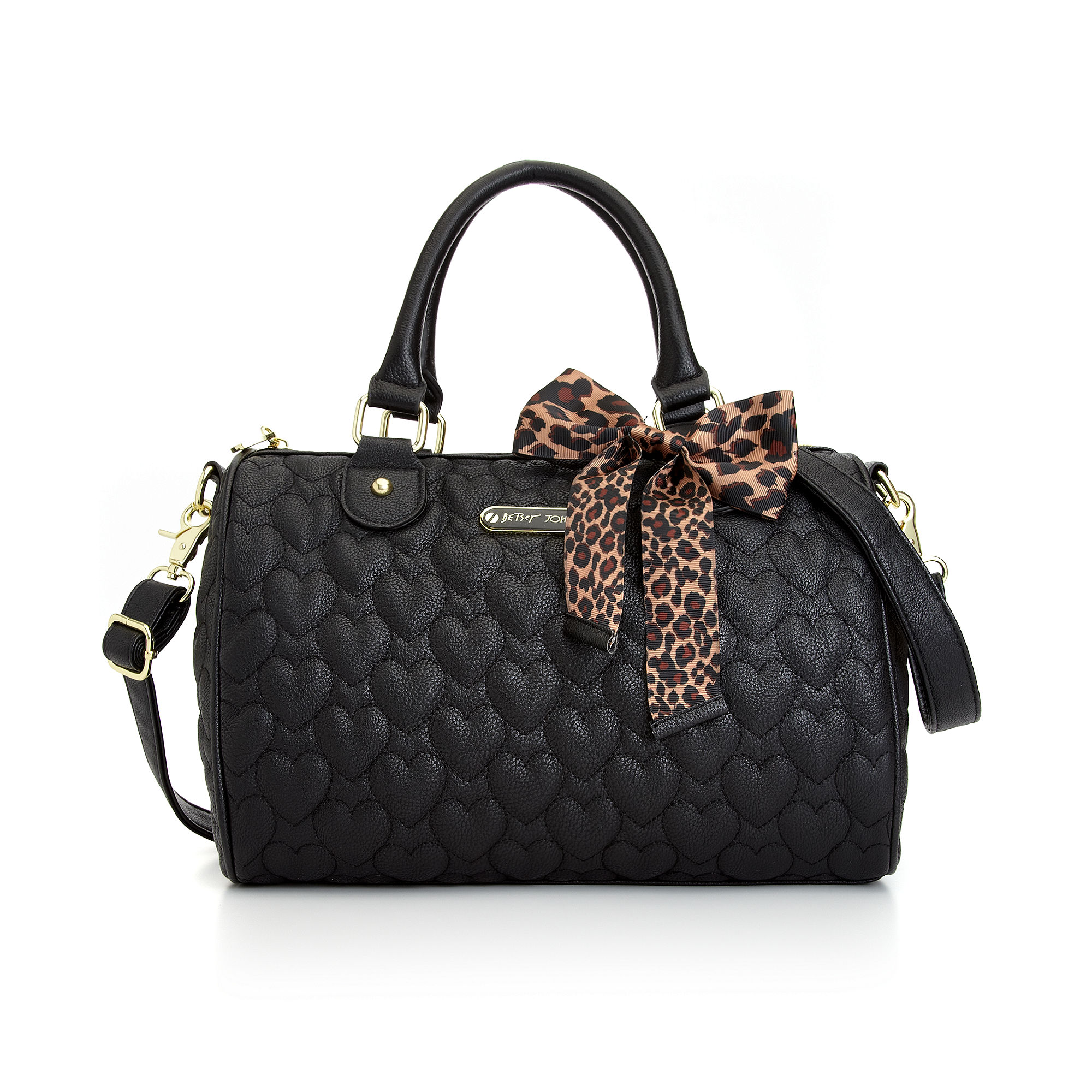 Lyst Betsey Johnson Quilted Satchel In Black