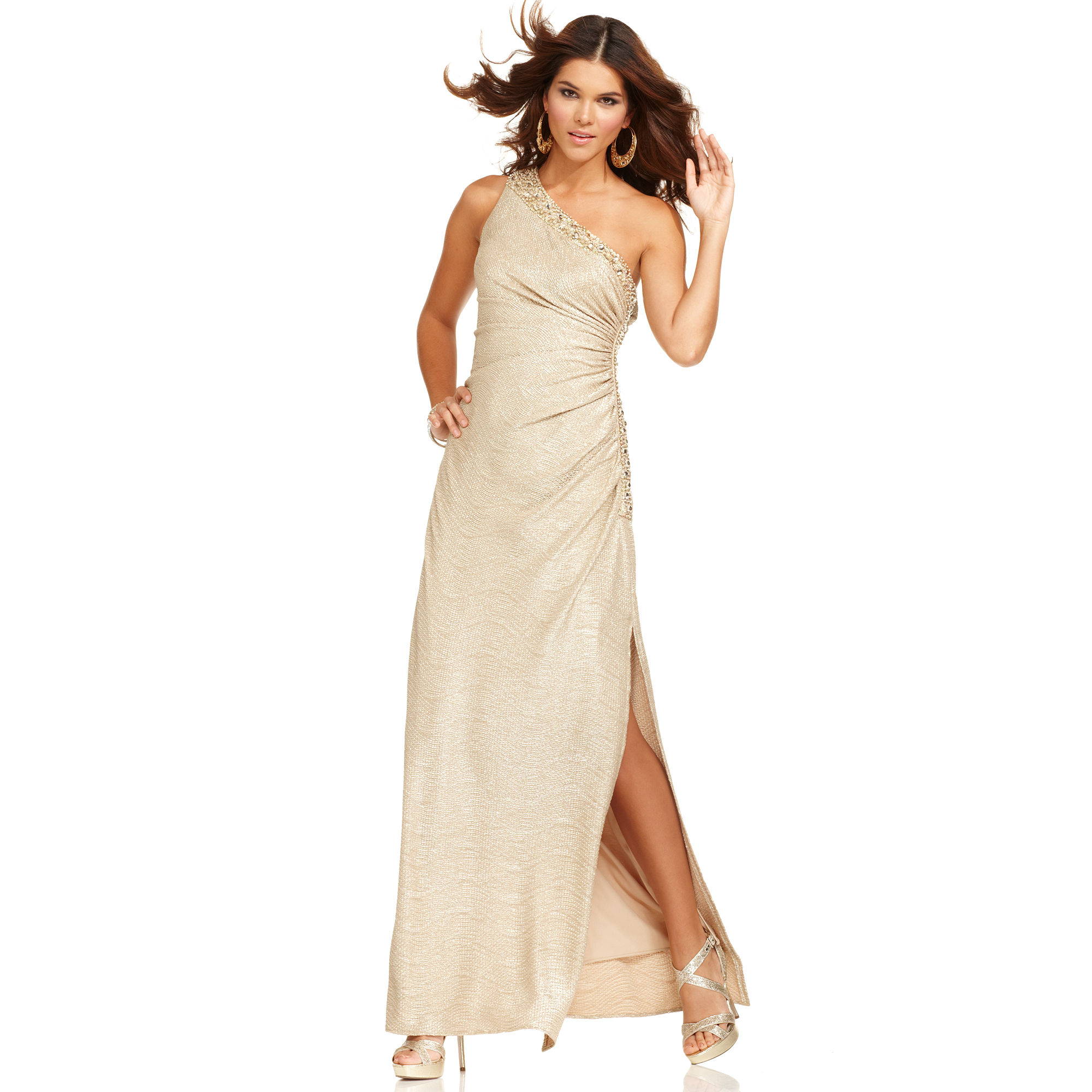 Lyst Betsy Amp Adam Betsy And Adam Dress One Shoulder