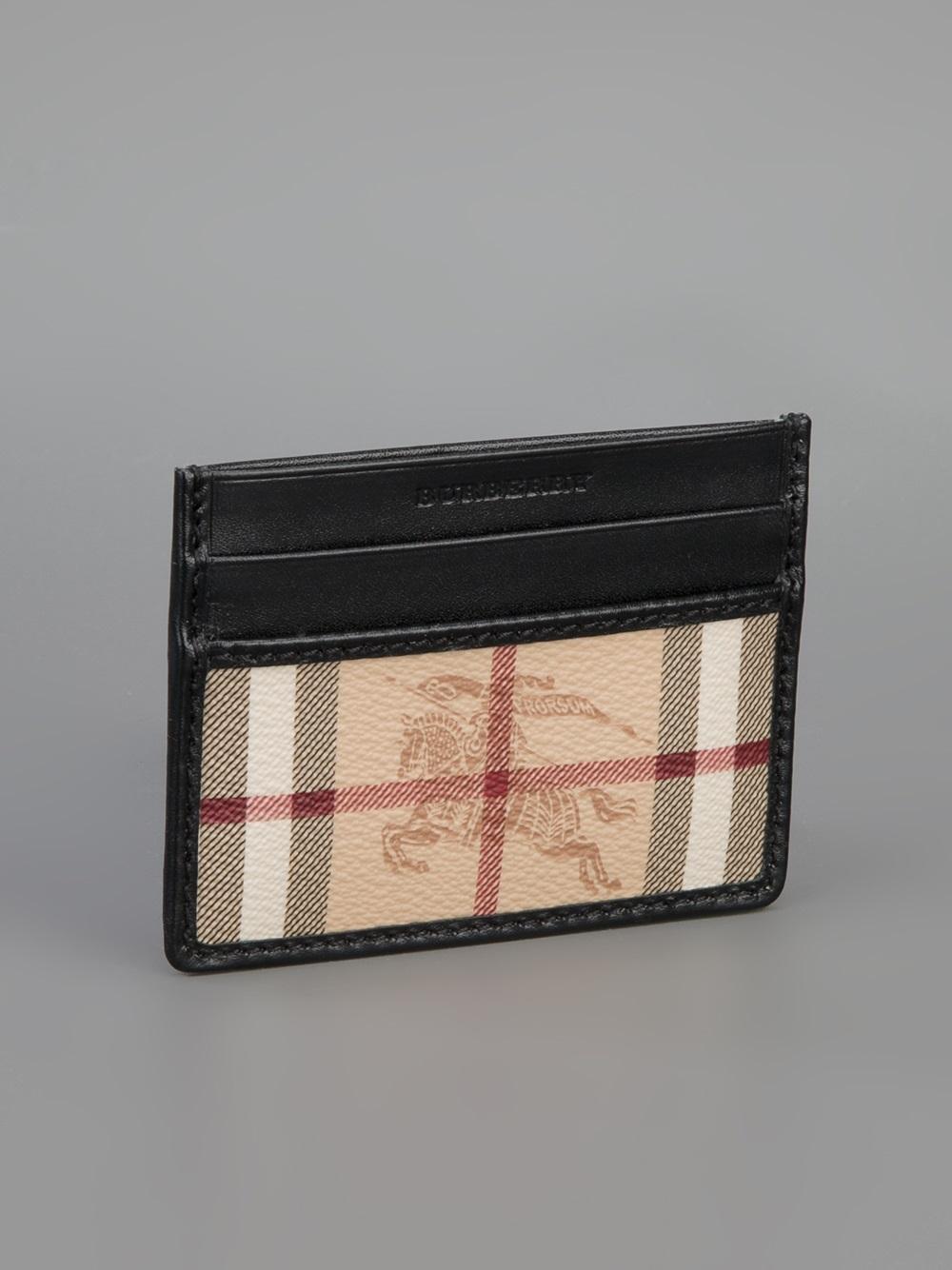 Burberry Camo Print Leather Card Holder