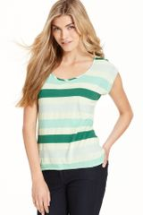 Calvin Klein Jeans Short-sleeve Striped Scoop-neck - Lyst