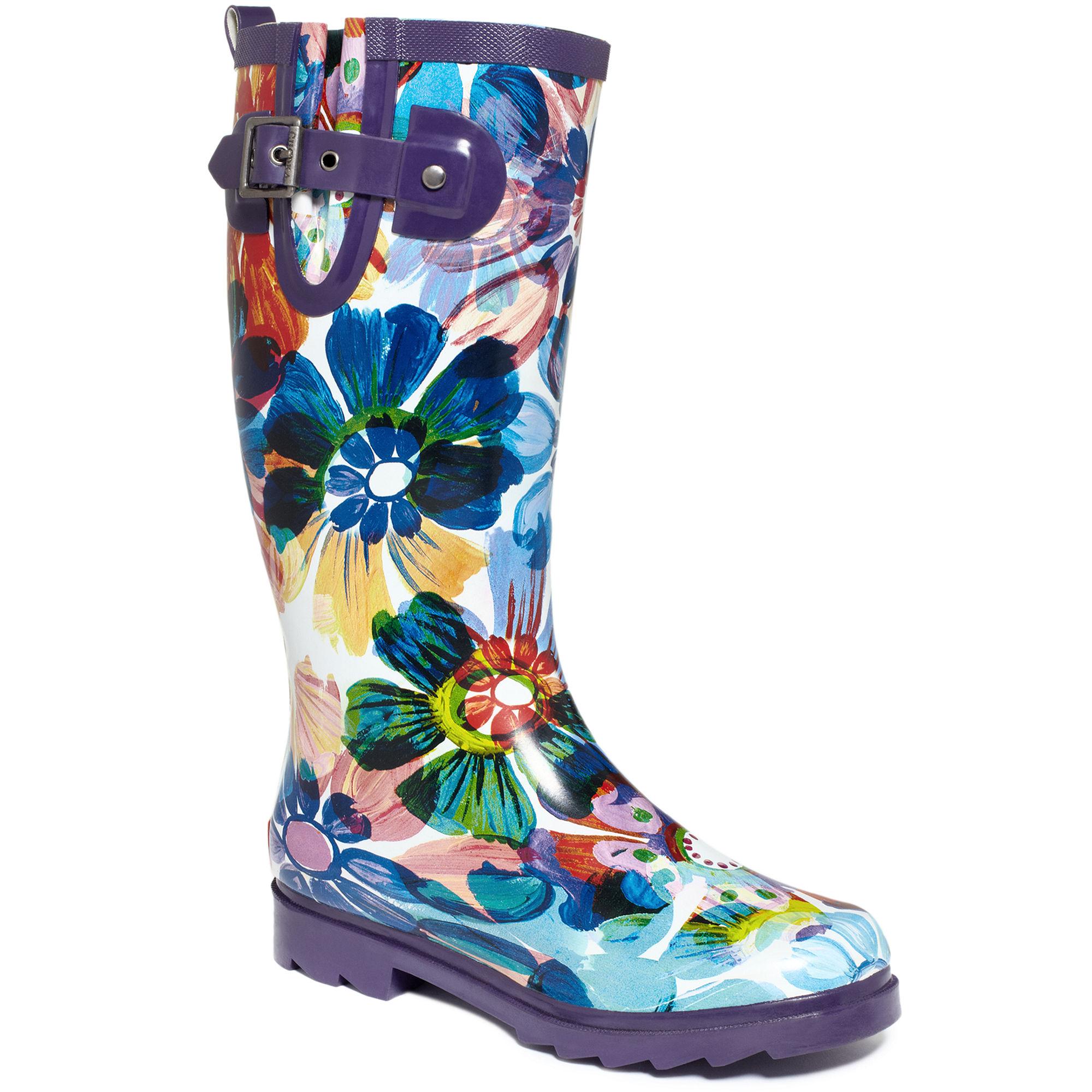 Chooka Flora Glass Rain Boots in Blue | Lyst