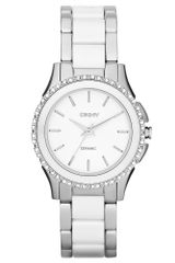 DKNY Womens White Ceramic and Stainless Steel Bracelet 32mm - Lyst