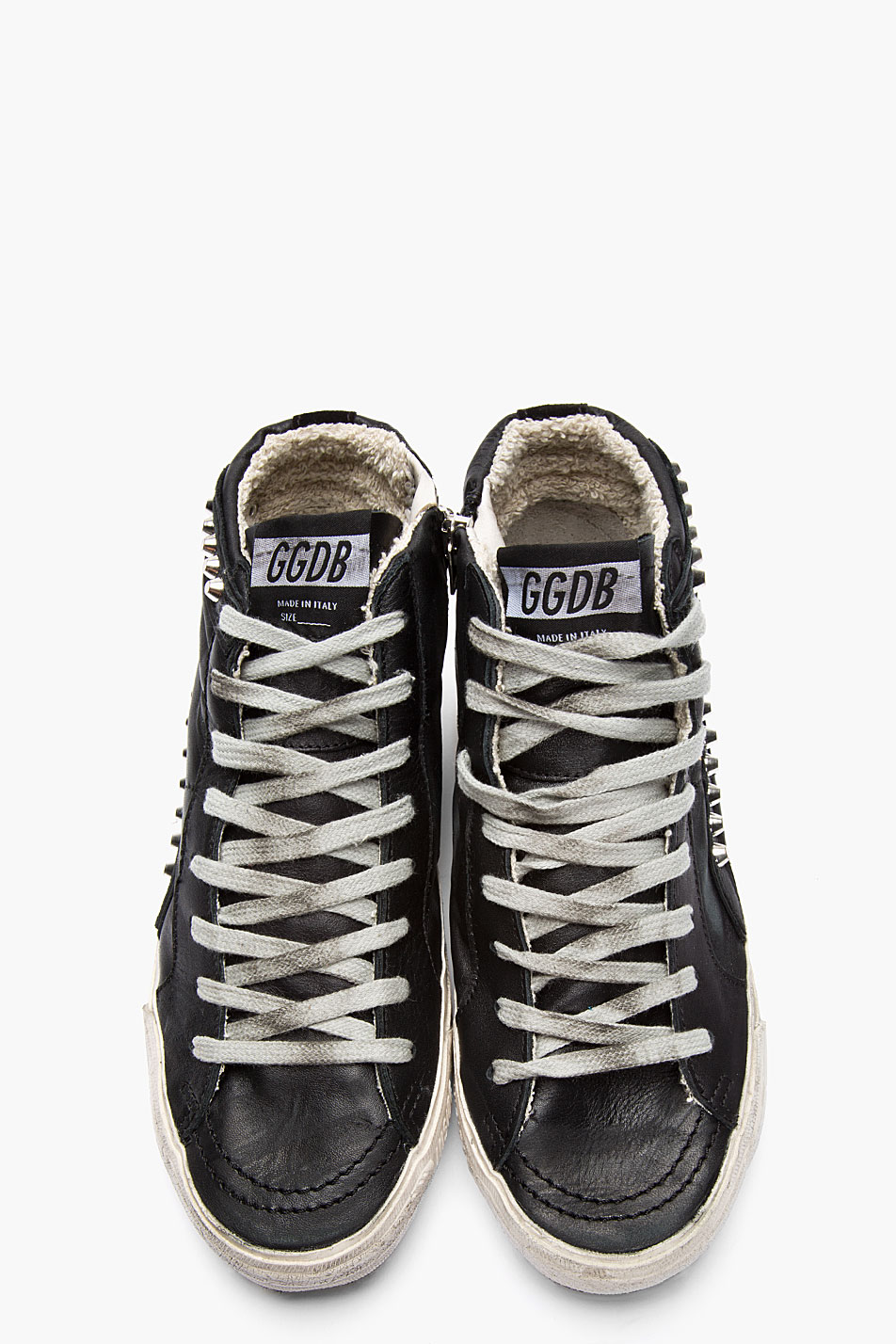 Golden Goose Leather Studded Slide Sneakers HAogd
