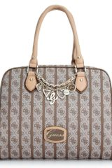 Guess Jasleen Box Satchel - Lyst