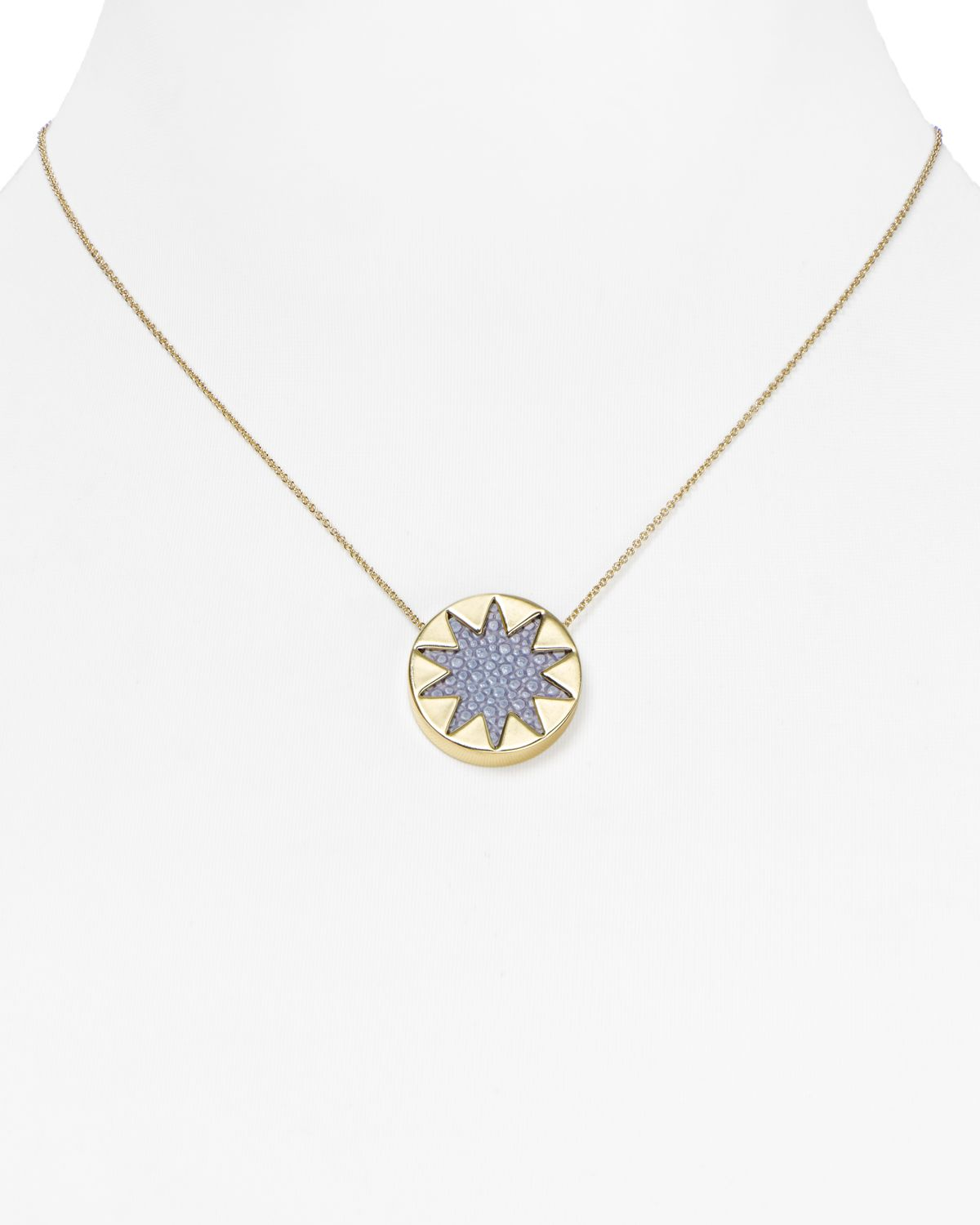 House Of Harlow House of Harlow Mini Starburst Pendant Necklace in Metallic Gold