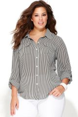 Inc International Concepts Long Sleeve Striped Shirt - Lyst