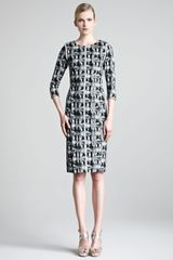 Lela Rose Jacquard Sheath Dress - Lyst