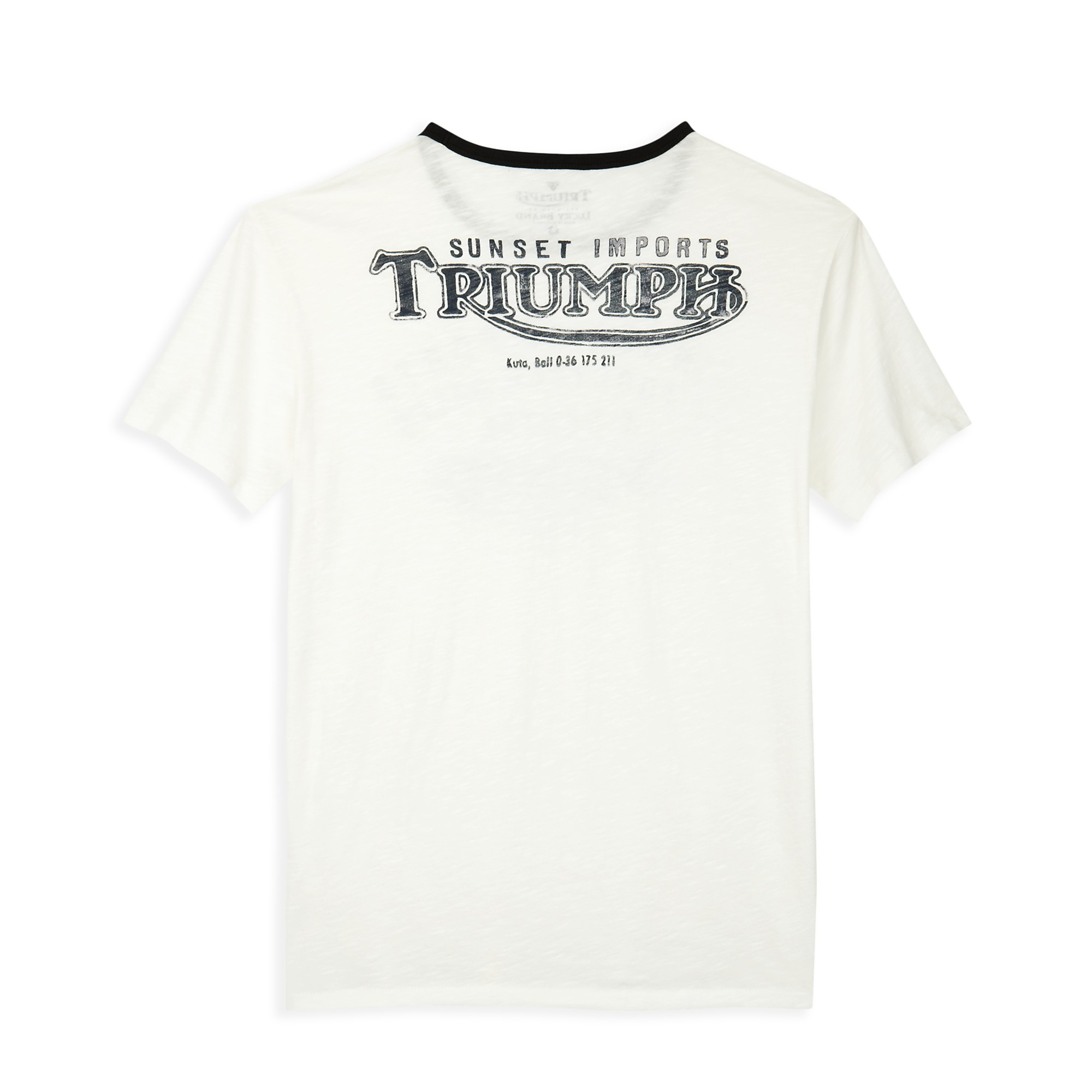 Lucky Brand Triumph Sunset Imports Tshirt In White For Men