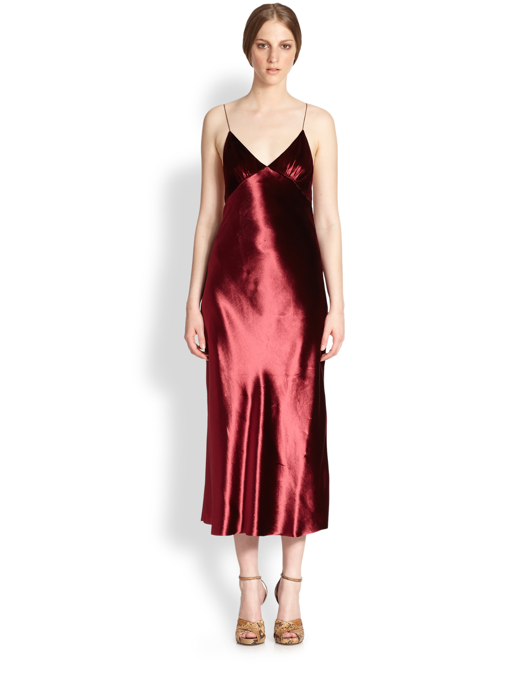 726c7bb0a1a1 Marc Jacobs Panne Velvet Dress in Red - Lyst