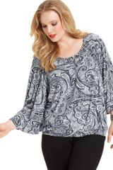 Michael Kors Mid Length Sleeve Paisleyprint - Lyst