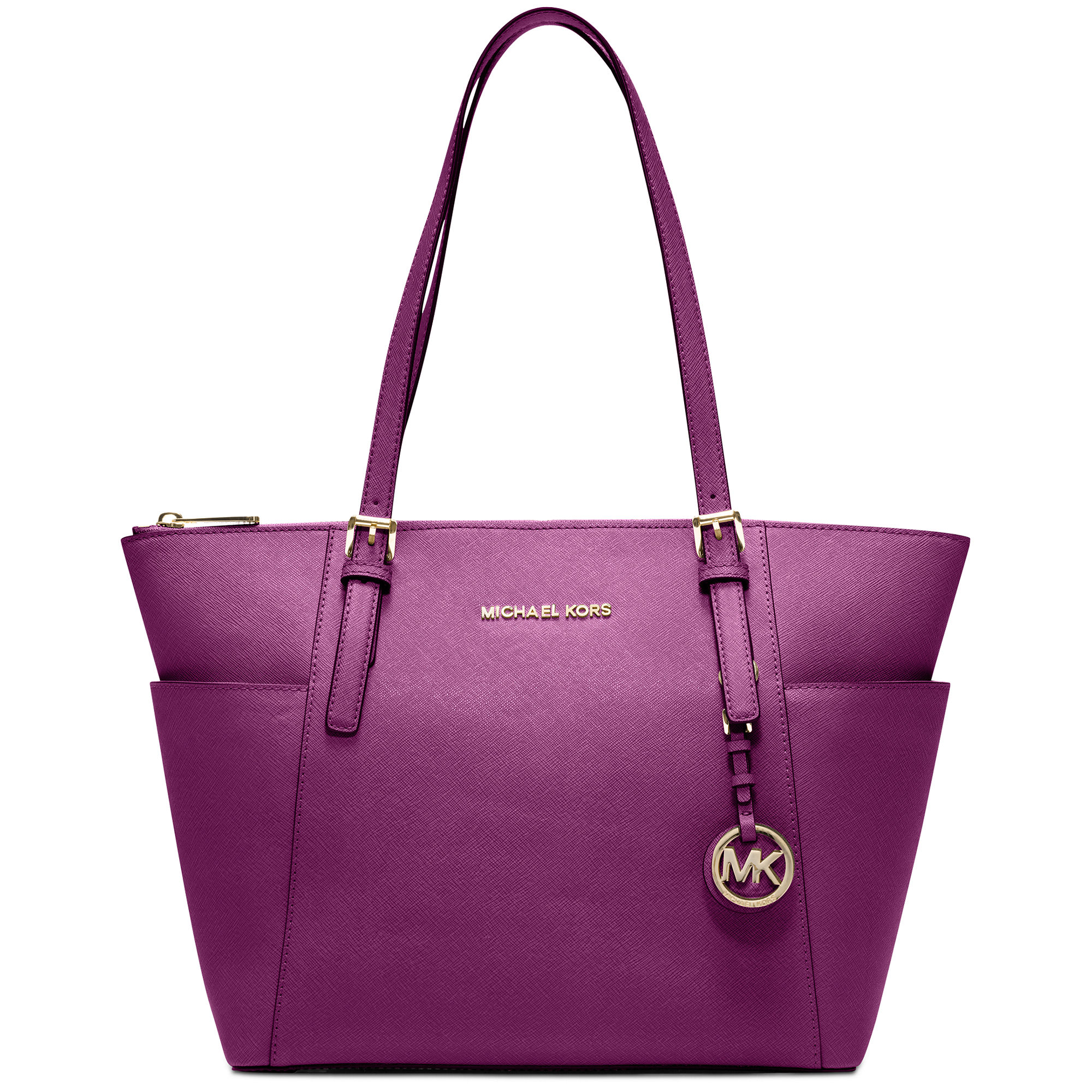 michael kors jet set east west top zip tote in purple. Black Bedroom Furniture Sets. Home Design Ideas