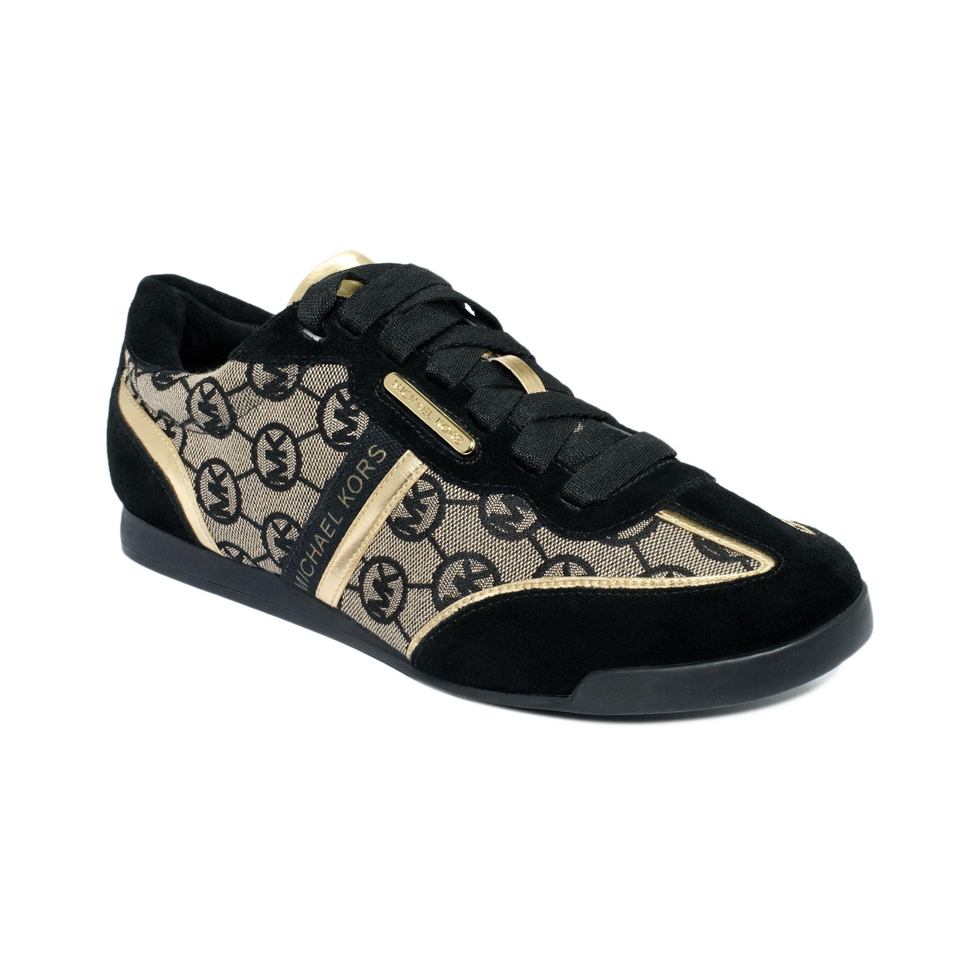 lyst michael kors mk trainer sneakers in brown. Black Bedroom Furniture Sets. Home Design Ideas